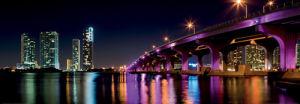 Miami Skyline along the MacArthur Causeway Bridge by Fotoluminate