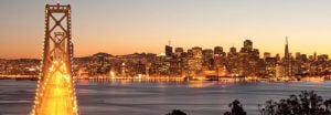 Bay Bridge at Twilight, San Francisco by Somchaij