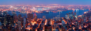 Aerial View of Manhattan and Hudson East River by Songquan Deng
