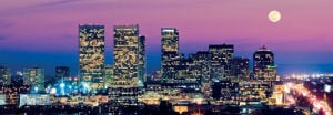Los Angeles Skyline at Dusk by Konstantin Sutyagin