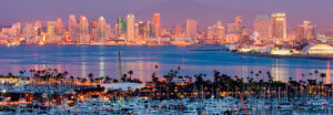 San Diego Skyline and Marina at Night by Andy Z