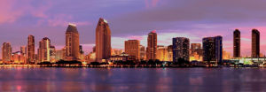 San Diego Downtown Sunset by Dancestrokes