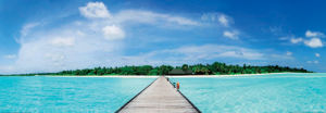 Maldives Jetty by Filip Fuxa