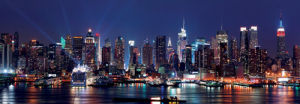 Manhattan and Hudson River at Night by Songquan Deng
