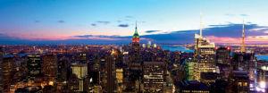 New York Skyline at Dusk by Dibrova