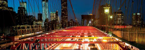 Brooklyn Bridge Traffic at Dusk by Dibrova