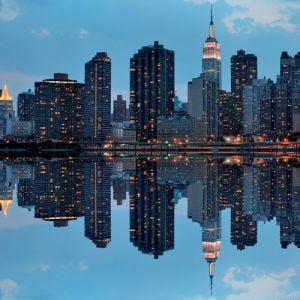 Manhattan Reflection by Sean Pavone
