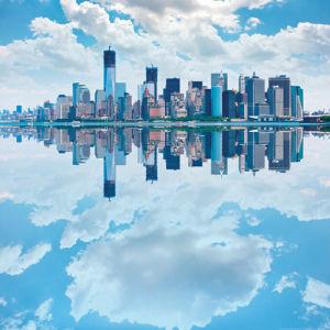 Lower Manhattan Reflection by pio3
