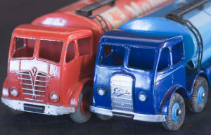 Red and Blue Tankers by Kim Sayer
