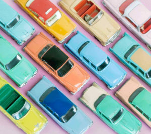 Colourful Cars II by Kim Sayer