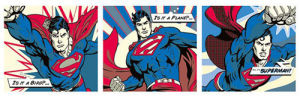 Superman - Pop Art Triptych by DC Comics