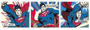 Superman - Pop Art Triptych by DC Comics