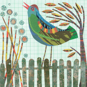Fence Bird by Jane Robbins