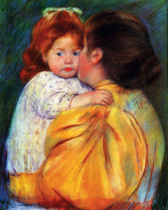 Maternal Kiss 1896 by Mary Cassatt