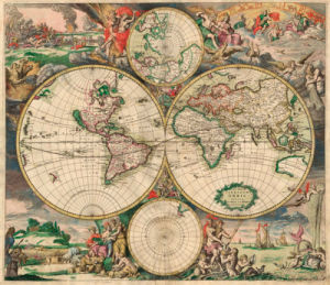 World Map 1689 by Gerrit van Schagen