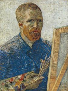 Self Portrait in Front of Easel by Vincent Van Gogh