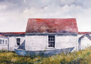 Blue Dory, Monhegan by Bradley Hendershot