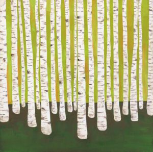 Birch Forest by Lisa Congdon