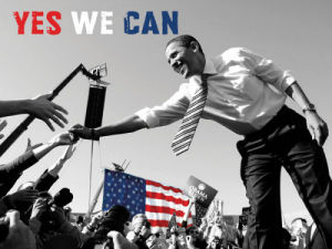 Barack Obama: Yes We Can (crowd) by Celebrity Photo