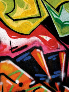 Colorful Graffiti (detail by Jenny Kraft