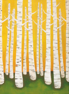 Autumn Birches by Lisa Congdon