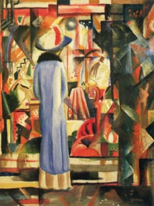 Large Bright Showcase by August Macke