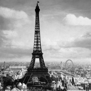 The Eiffel Tower, Paris France, 1897 by Tavin