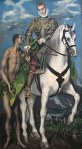 Saint Martin and the Begger 1597-99 by El Greco