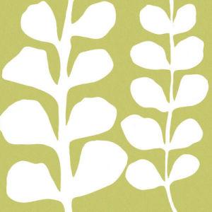 White Fern on Green by Denise Duplock
