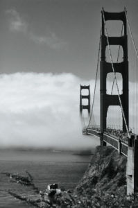 Golden Gate Fog by Sabri Irmak