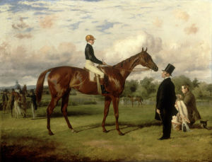 Virago with John Wells up, Trainer John Day and Stable Lad by Thomas Barratt