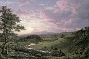 View near Stockbridge, Massachussetts, 1847 by Frederic Edwin Church