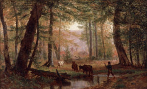 Crossing the Stream, 1867 by Thomas Worthington Whittredge