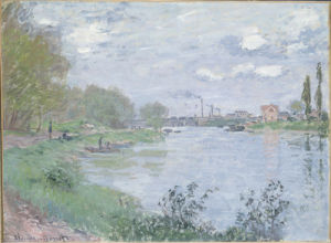 Les Bords de la Seine a la Grande Jatte by Claude Monet