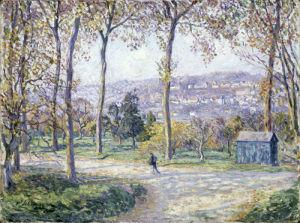 Paysage de L'Automne avec Personnage se Promenant, 1900 by Henri Lebasque