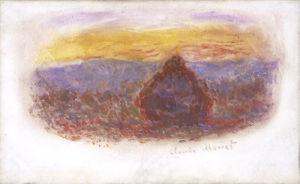 Meule, Soleil Couchant, 1909 by Claude Monet