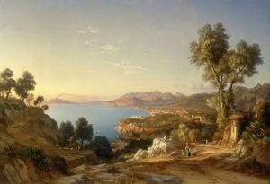 The Bay of Naples, 1859 by Johann-Rudolph Buhlmann