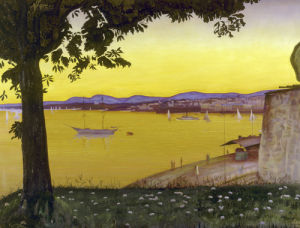 Oslo, fra Akershus, 1933 by Harald Oscar Sohlberg