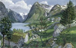 Sonde I Jolster, Norway by Nikolai Astrup