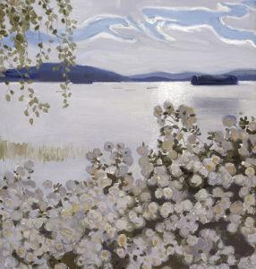 Valkoisia Ruusuja, Konginkangas (White Roses), 1906 by Akseli Valdemar Gallen-Kallela