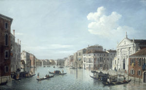 The Grand Canal Venice, looking South East to the Fabriche Nuovo di Rialto by William James
