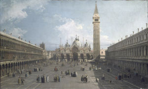 Piazza San Marco looking East towards Basilica by Giovanni Canaletto