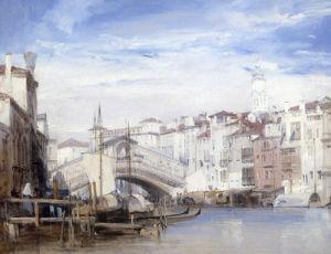 The Rialto, Venice by Richard Parkes Bonington
