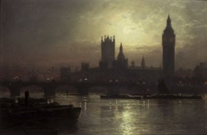 Westminster Bridge, London by John Atkinson Grimshaw
