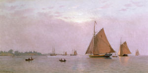 Ships Becalmed, 1871 by Francis Augustus Silva
