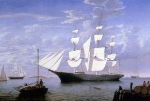 Star Light in Harbour, c.1865 by Fitz Hugh Lane