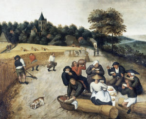 Summer: with Harvesters Reaping and others Resting by Pieter Brueghel The Younger