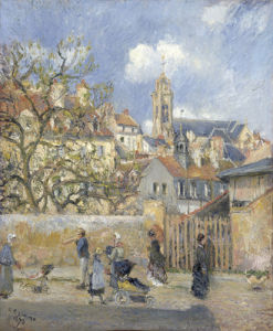 Le Parc aux Charrettes, Pontoise, 1878 by Camille Pissarro