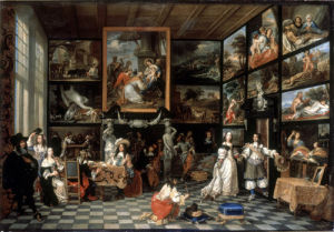 The Interior of a Picture Gallery by Antwerp School