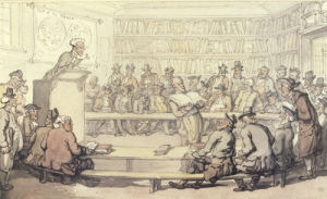 A Sale at Sotheby's by Thomas Rowlandson
